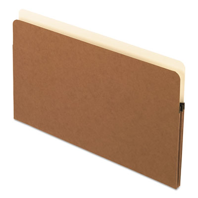 Standard expanding file pockets, manila, straight cut, 1 pocket, legal, redrope, sold as 1 box, 25 each per box
