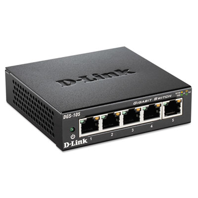 5-port gigabit ethernet switch, unmanaged, sold as 1 each