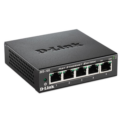 5-port fast ethernet switch, unmanaged, sold as 1 each
