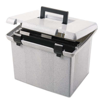 Portafile file storage box, letter, plastic, 13 7/8 x 14 x 11 1/8, granite, sold as 1 each