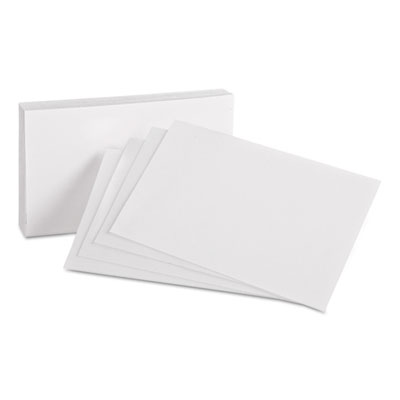Unruled index cards, 4 x 6, white, 100/pack, sold as 1 package