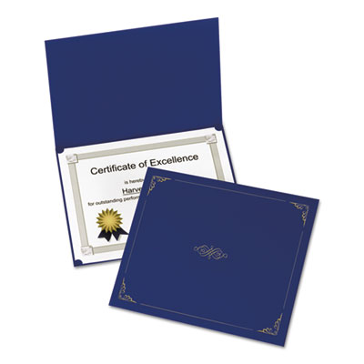 Certificate holder, 11 1/4 x 8 3/4, dark blue, 5/pack, sold as 1 package