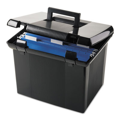 Portafile file storage box, letter, plastic, 11 x 14 x 11-1/8, black, sold as 1 each