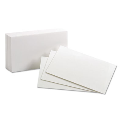Unruled index cards, 3 x 5, white, 100/pack, sold as 1 package