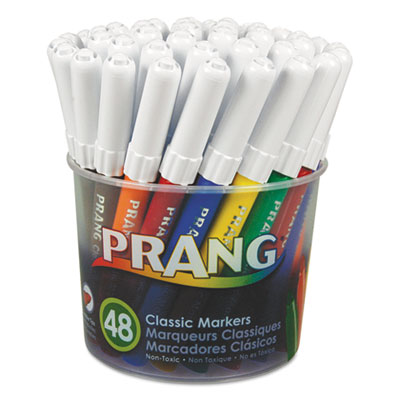 Prang classic art markers, fine point, 48 assorted colors, 48/set, sold as 1 set