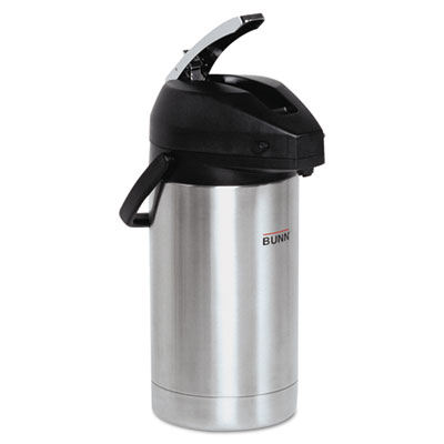 3 liter lever action airpot, stainless steel, sold as 1 each