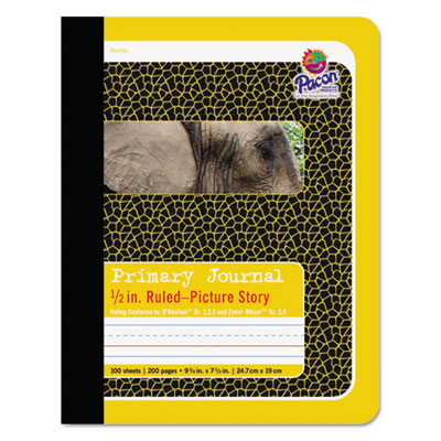 "Primary journal, 1/2"" ruling, 9-3/4 x 7-1/2, 100 sheets, sold as 1 each"