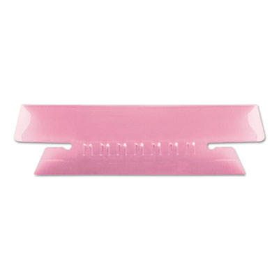 Hanging file folder tabs, 1/3 tab, 3 1/2 inch, pink tab/white insert, 25/pack, sold as 1 package