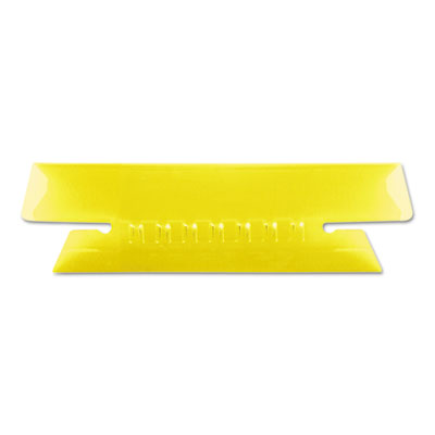 Hanging file folder tabs, 1/3 tab, 3 1/2 inch, yellow tab/white insert, 25/pack, sold as 1 package