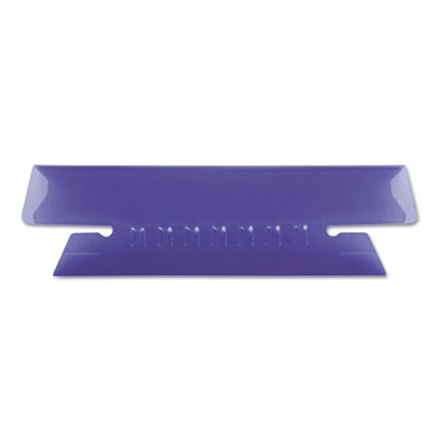 Hanging file folder tabs, 1/3 tab, 3 1/2 inch, violet tab/white insert, 25/pack, sold as 1 package