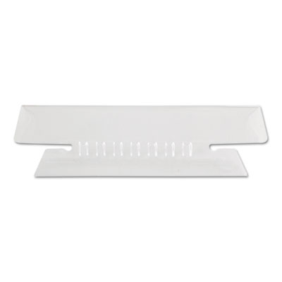 Hanging file folder tabs, 1/3 tab, 3 1/2 inch, clear tab/white insert, 25/pack, sold as 1 package