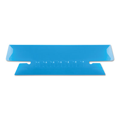 Hanging file folder tabs, 1/3 tab, 3 1/2 inch, blue tab/white insert, 25/pack, sold as 1 package