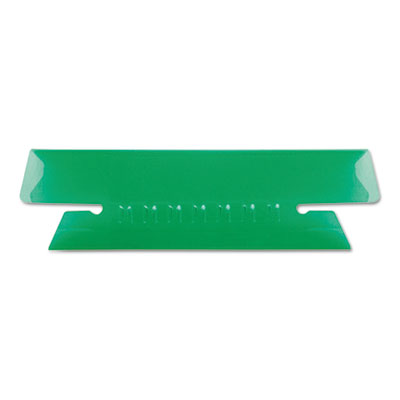 Hanging file folder tabs, 1/3 tab, 3 1/2 inch, green tab/white insert, 25/pack, sold as 1 package