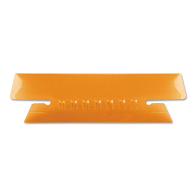 Hanging file folder tabs, 1/3 tab, 3 1/2 inch, orange tab/white insert, 25/pack, sold as 1 package