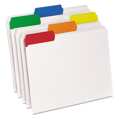 Easyview poly file folders, 1/3 cut top tab, letter, clear, 25/box, sold as 1 box, 25 each per box