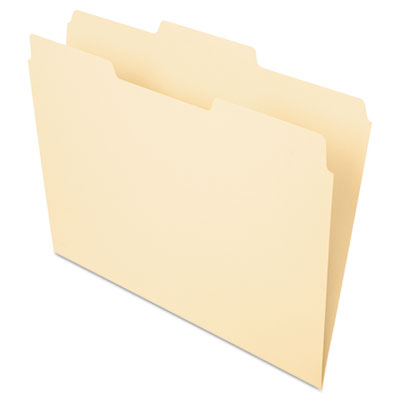 File folders, 1/3 cut, second position, top tab, letter, manila, 100/box, sold as 1 box, 100 each per box