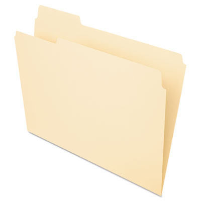 File folders, 1/3 cut, first position, top tab, letter, manila, 100/box, sold as 1 box, 100 each per box