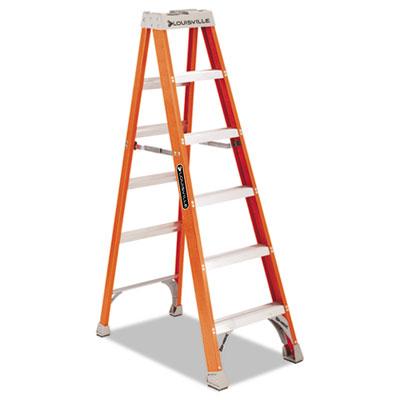 Fs1500 series fiberglass step ladder, 6ft, sold as 1 each