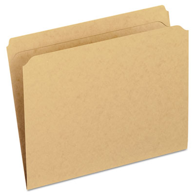 Two-ply dark kraft file folders, straight cut, top tab, letter, brown, 100/box, sold as 1 box, 100 each per box
