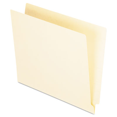 Straight cut end tab folders, one ply, straight cut, letter, manila, 100/box, sold as 1 box, 100 each per box