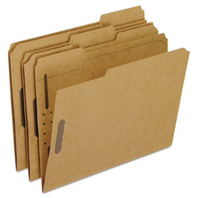 Kraft fastener folders, 2 fasteners, 1/3 cut tabs, letter, 50/box, sold as 1 box, 50 each per box