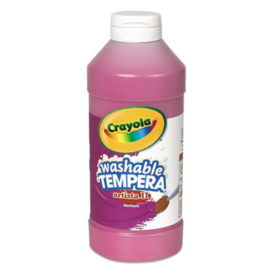 Artista ii washable tempera paint, magenta, 16 oz, sold as 1 each
