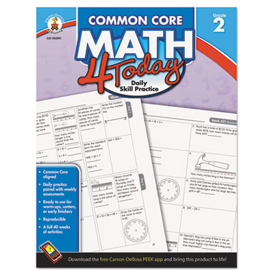 Common core 4 today workbook, math, grade 2, 96 pages, sold as 1 each