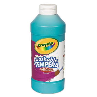 Artista ii washable tempera paint, turquoise, 16 oz, sold as 1 each
