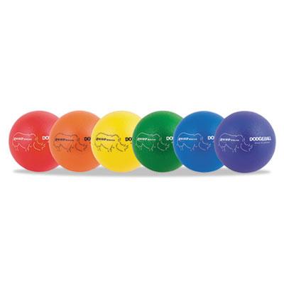 "Rhino skin dodge ball set, 8"" diameter, assorted, 6 balls/set, sold as 1 set"