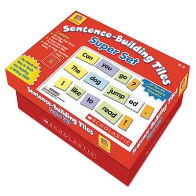Sentence-building tiles super set, ages 5-8, sold as 1 set