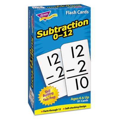 Skill drill flash cards, 3 x 6, subtraction, sold as 1 set