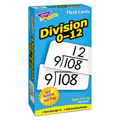 Skill drill flash cards, 3 x 6, division, sold as 1 set