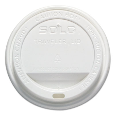 Traveler drink-thru lid, 12-16oz hot cups, white, 50/pack, 6 packs/carton, sold as 1 carton, 6 package per carton