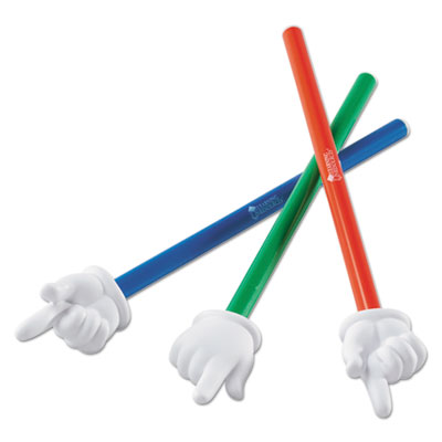 "Hand pointers set, 15"", assorted colors, 3/set, sold as 1 set"