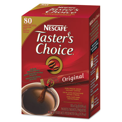 Taster's choice stick pack, premium choice, 80/box, sold as 1 box, 80 each per box