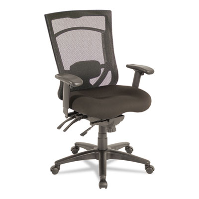 Ex series mesh multifunction high-back chair, black, sold as 1 each