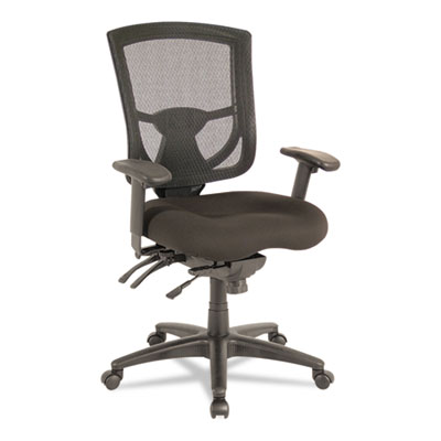 Ex series mesh multifunction mid-back chair, black, sold as 1 each