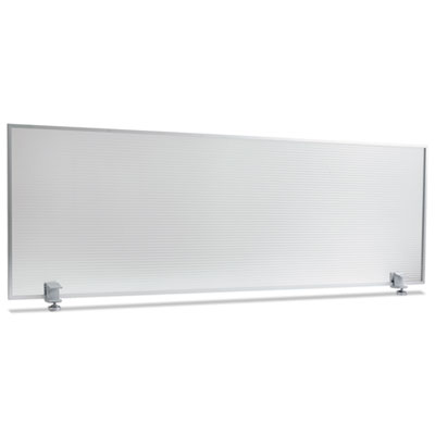 Polycarbonate privacy panel, 47w x 18h, silver, sold as 1 each