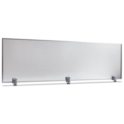 Polycarbonate privacy panel, 65w x 18h, silver, sold as 1 each