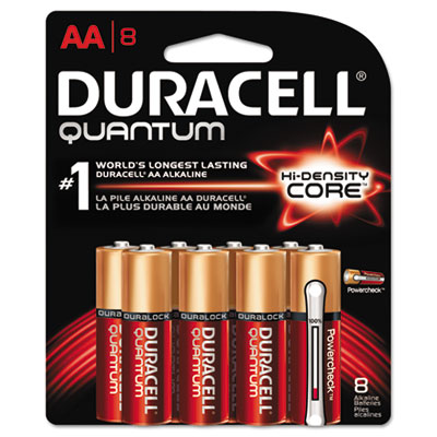 Quantum alkaline batteries with duralock power preserve technology, aa, 8/pk, sold as 1 package