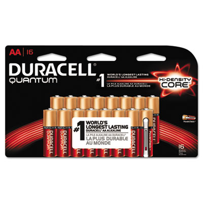 Quantum alkaline batteries with duralock power preserve technology, aa, 16/pk, sold as 1 package