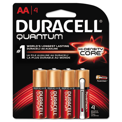 Quantum alkaline batteries with duralock power preserve technology, aa, 4/pk, sold as 1 package