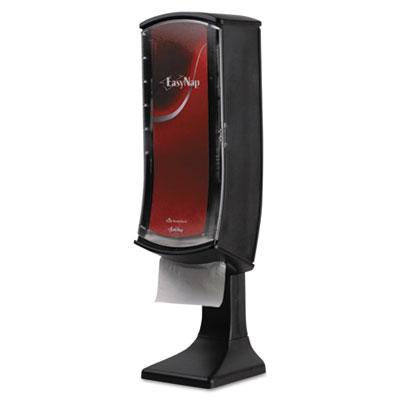 Easynap tower napkin dispenser, 8 1/25w x 8 7/64d x 28 25/32h, black, sold as 1 each