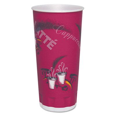 Trophy plus dual temperature cups, 24 oz, bistro design, 600/carton, sold as 1 carton, 25 package per carton