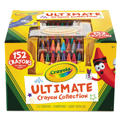 Ultimate crayon case, sharpener caddy, 152 colors, sold as 1 set