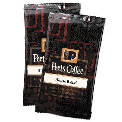 Coffee portion packs, house blend, 2.5 oz frack pack, 18/box, sold as 1 box, 18 each per box