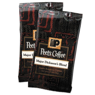 Coffee portion packs, major dickason's blend, 2.5 oz frack pack, 18/box, sold as 1 box, 18 each per box