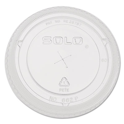 Straw-slot cold cup lids, 9oz-20oz cups, clear, 100/pack, sold as 1 package