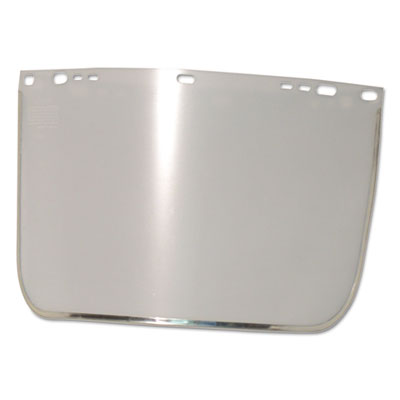 "Face shield visor, 15 1/2"""" x 9"""", clear, bound, plastic/aluminum, sold as 1 each"