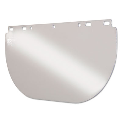 Unbound visor for fibremetal frames, clear, 16 1/2w x 8h, sold as 1 each